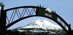 The Weed Arch, with Mt. Shasta