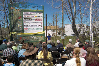 Events Board Ribbon Cutting at Weed Visitor Center